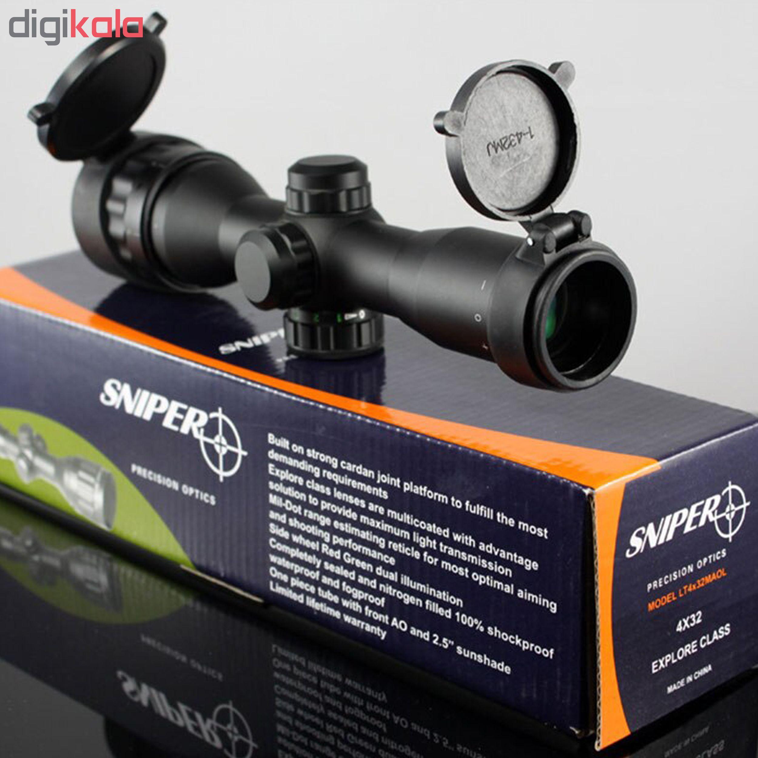 دوربین تفنگ اسنایپر مدل LT4×32ML explore class