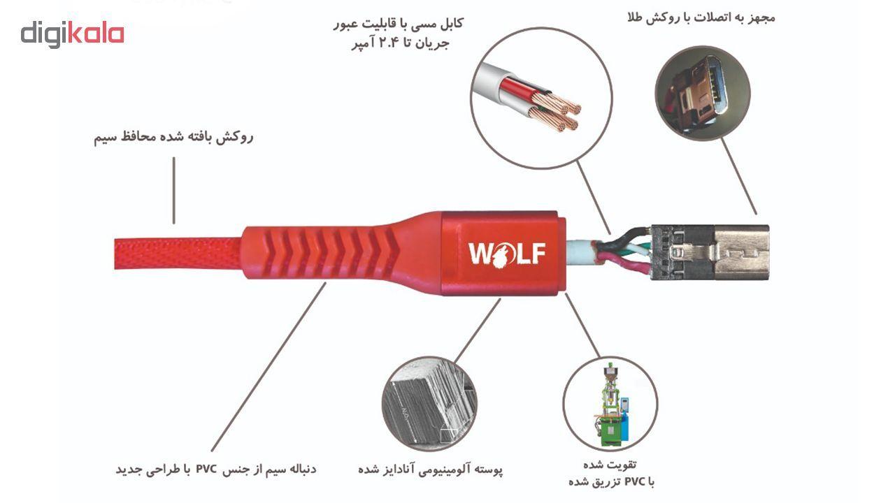 کابل تبدیل USB به microUSB ولف مدل Ds2.4 طول 1 متر main 1 7