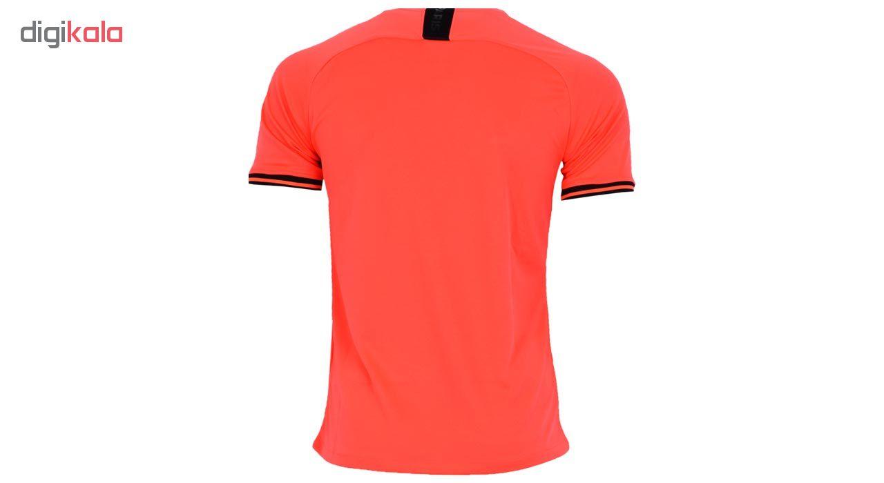 تیشرت ورزشی مردانه طرح پاریسن ژرمن کد 2019.20 away رنگ نارنجی