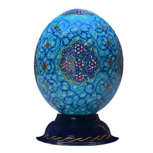 تخم شتر مرغ تزیینی گالری هنری و صنایع دستی رجایی مدل مینا کد 101000388