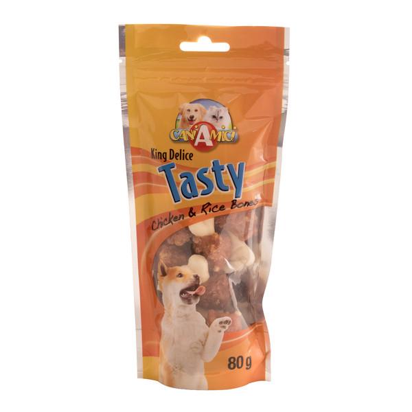 تشویقی سگ کروچی مدل Chicken & Rice وزن 80 گرم