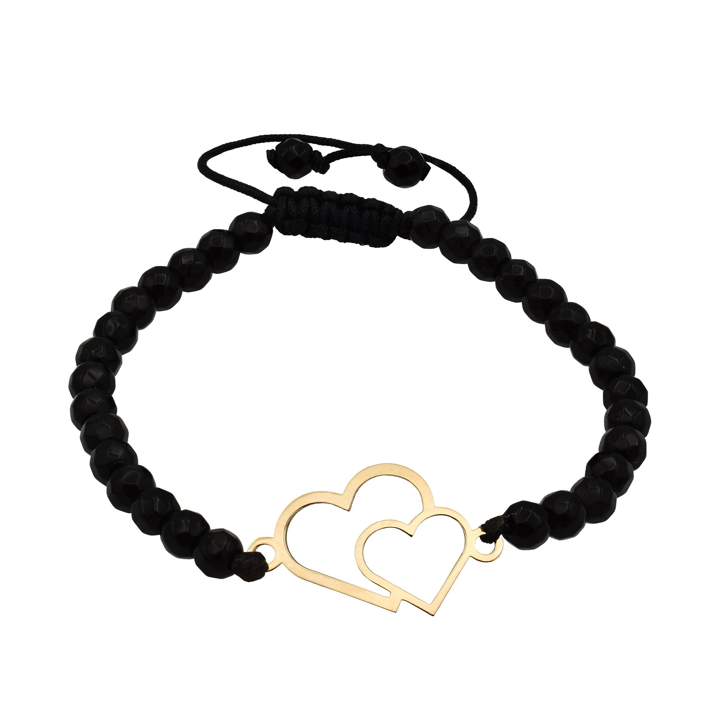 دستبند طلا 18 عیار زنانه آرشا گالری طرح قلب کد 400A2465