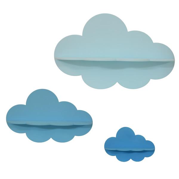 شلف دیواری طرح ابر مجموعه 3 عددی