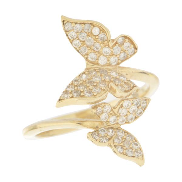 انگشتر طلا 18 عیار زنانه میو گلد مدل RG54