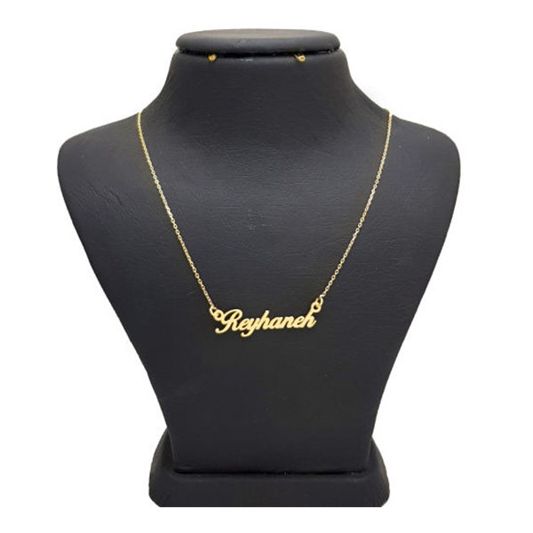 گردنبند طلا 18 عیار زنانه طرح اسم ریحانه کد DY120