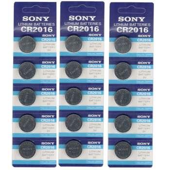 باتری سکه ای سونی مدل CR2016 بسته 15 عددی