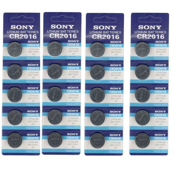 باتری سکه ای سونی مدل CR2016 بسته 20 عددی