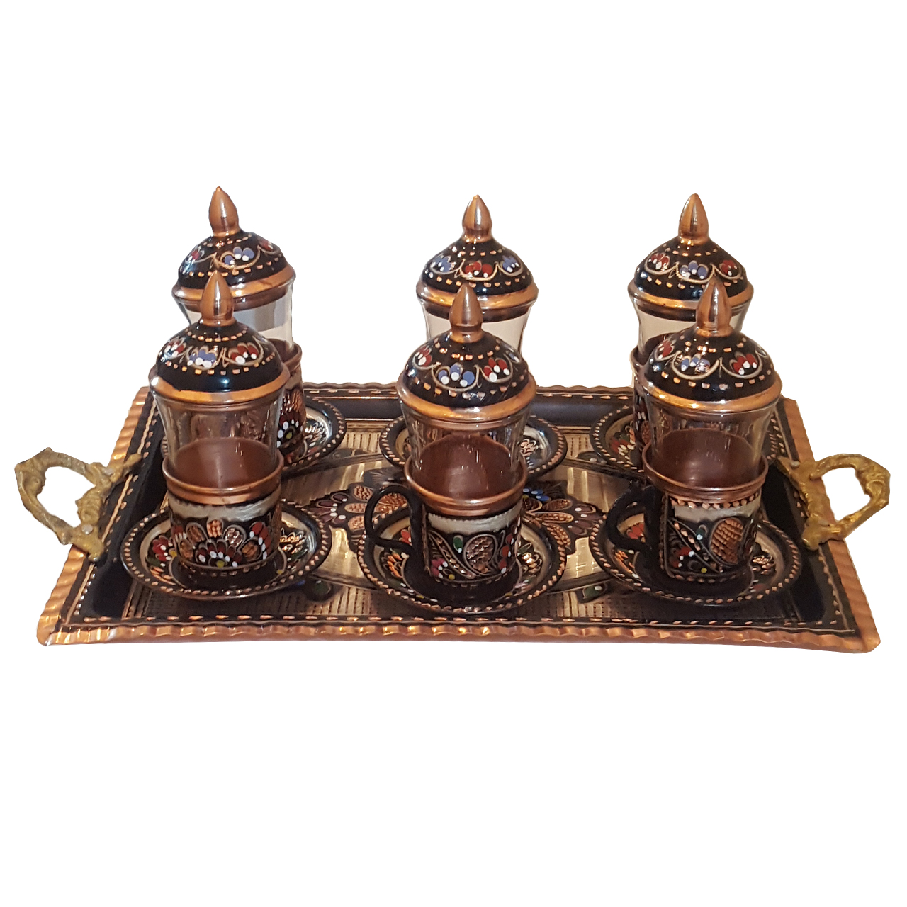 سرویس چای خوری قلمزنی مدل 1189