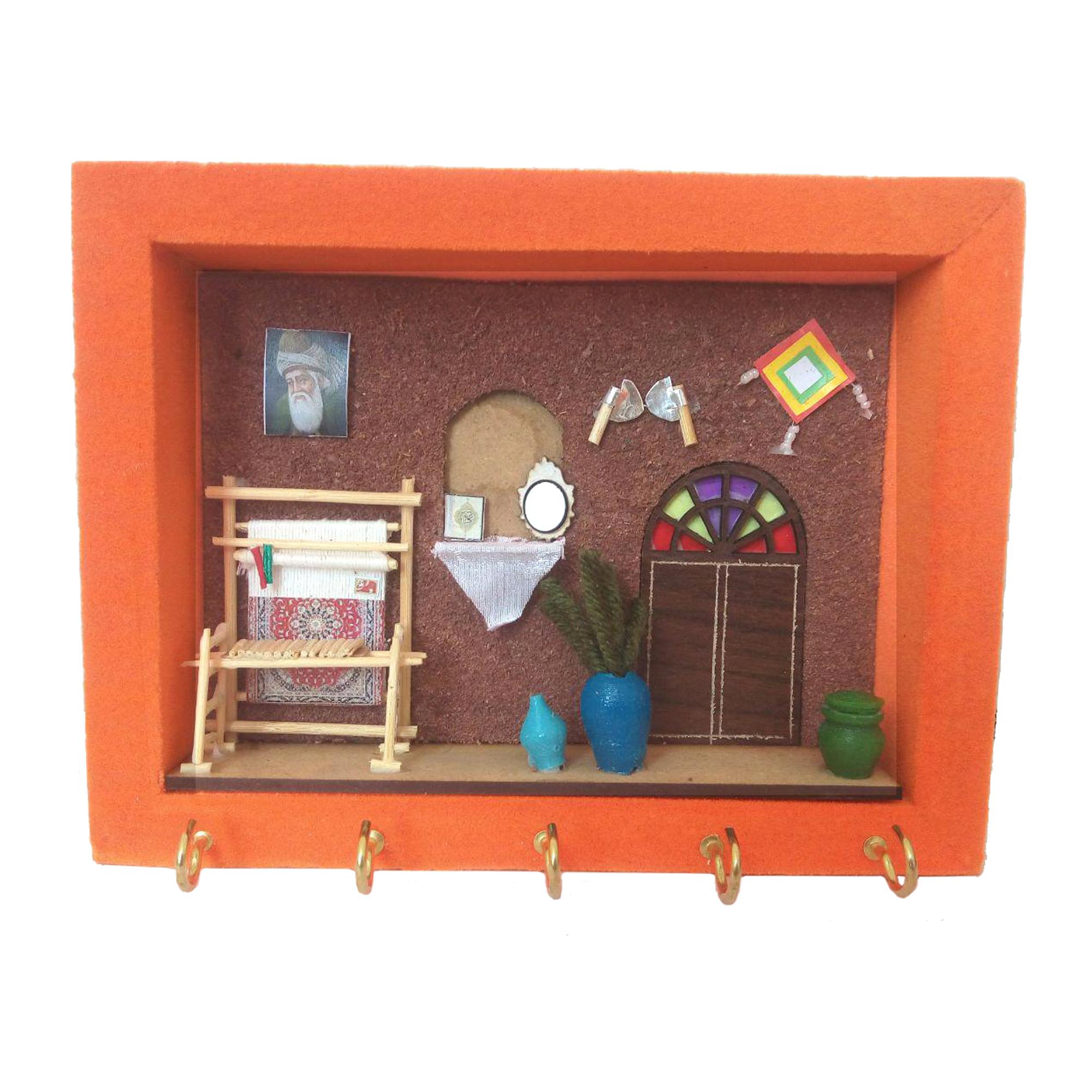 جاکلیدی مخمل سنتی مدل دار قالی