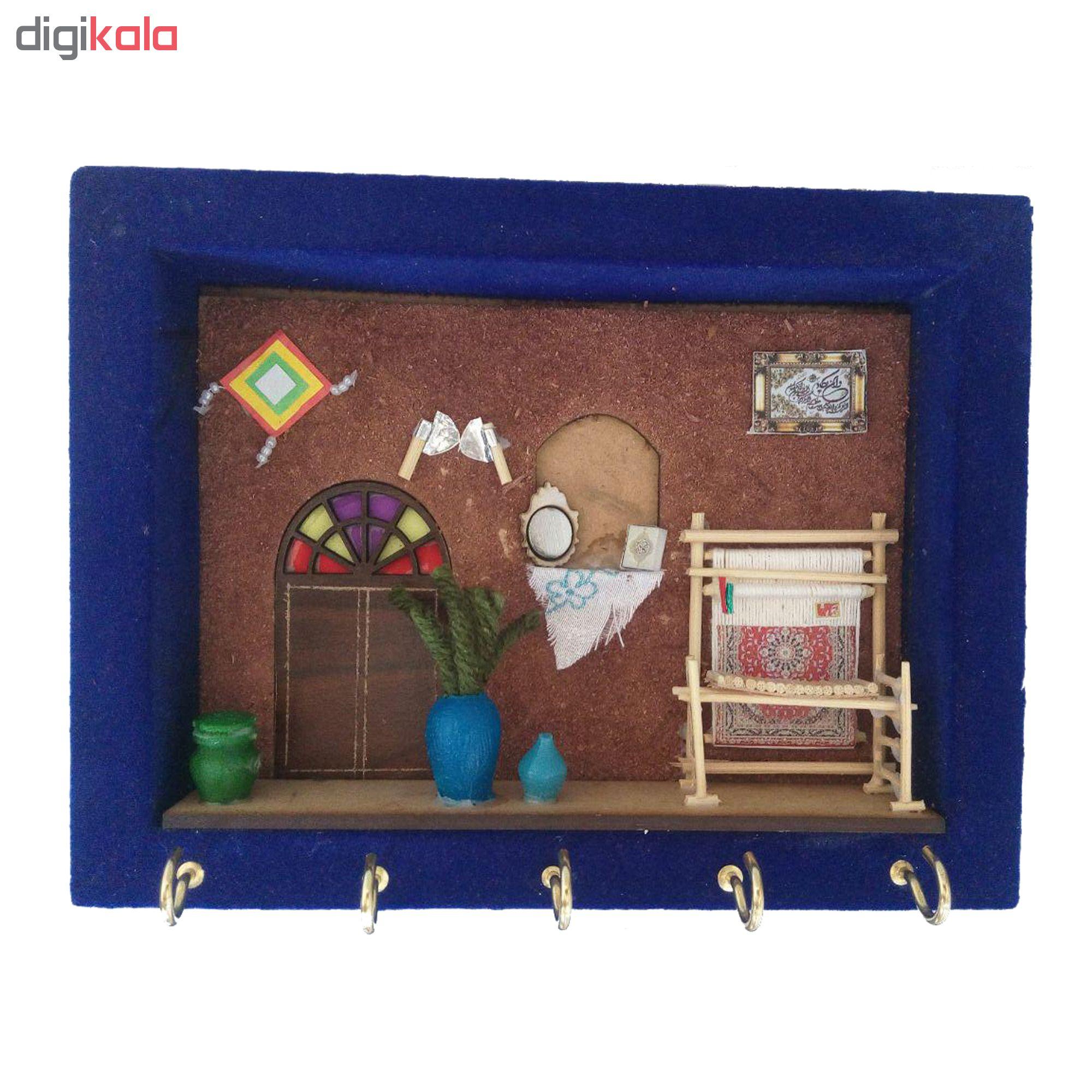 خرید                      جاکلیدی مخمل سنتی مدل دار قالی