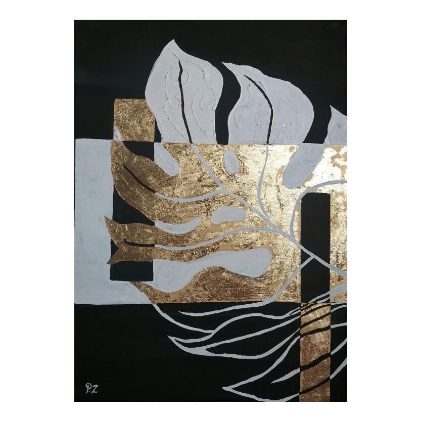 تابلو نقاشی ورق طلا مدل p09