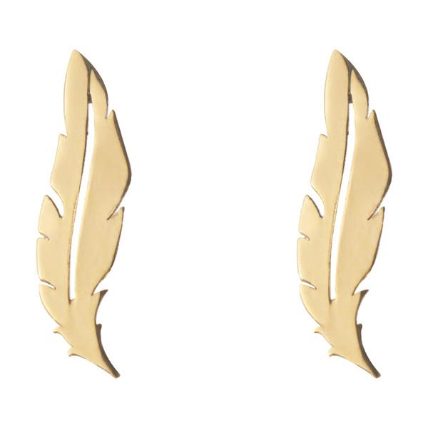 گوشواره طلا 18 عیار زنانه میو گلد مدل EG173