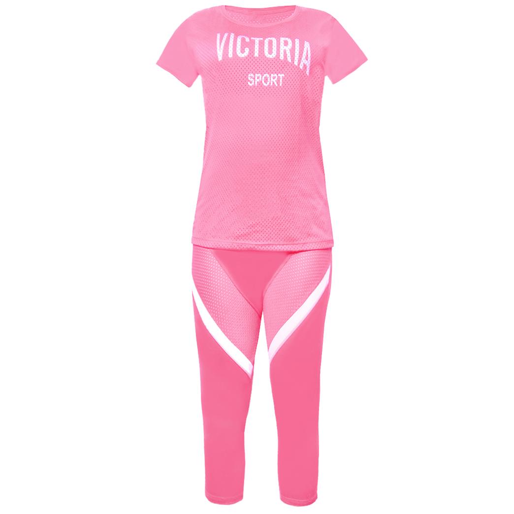ست تیشرت و شلوارک ورزشی زنانه کد 308