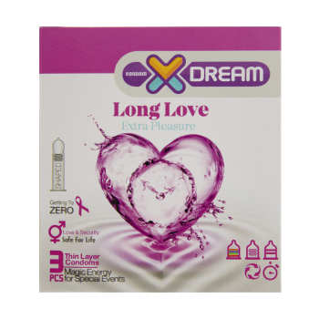 کاندوم ایکس دریم مدل Long Love بسته 3 عددی