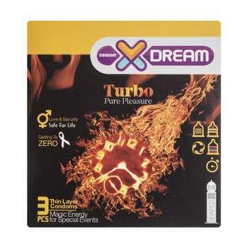 کاندوم ایکس دریم مدل Turbo بسته 3 عددی