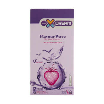 کاندوم ایکس دریم مدل Flavour Wave بسته 12 عددی