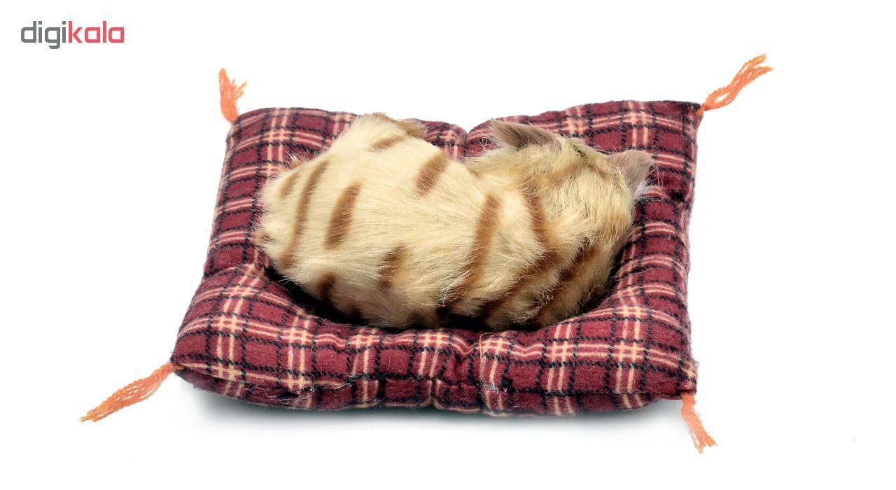 عروسک طرح گربه خوابالو کد 3474 طول 14 سانتی متر