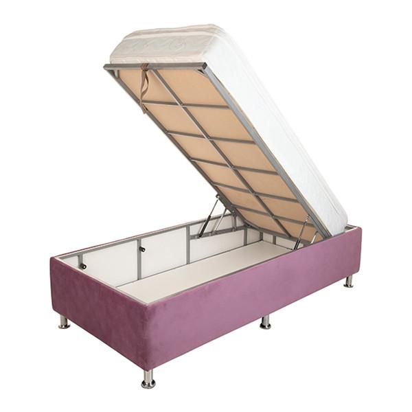 تخت خواب یک نفره آسایش باکس مدل AKA115 سایز 200 × 120 سانتی متر به همراه تشک طبی فنری