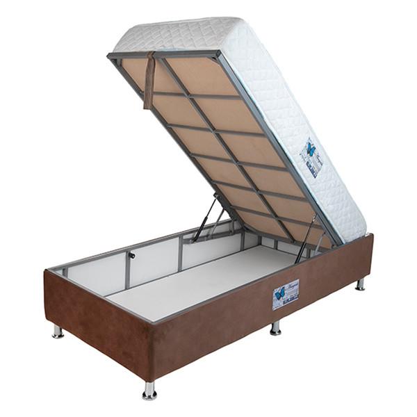 تخت خواب یک نفره آسایش باکس مدل AKA119 سایز 200 × 120 سانتی متر به همراه تشک طبی