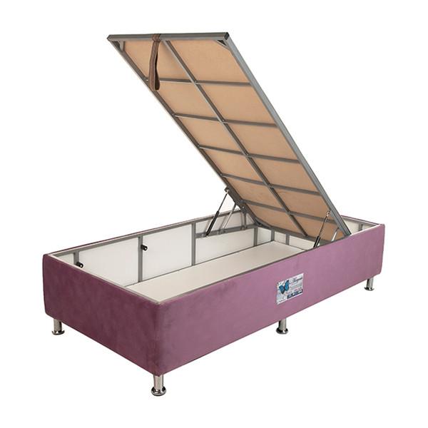 تخت خواب یک نفره آسایش باکس مدل AKA121 سایز 200 × 120 سانتی متر