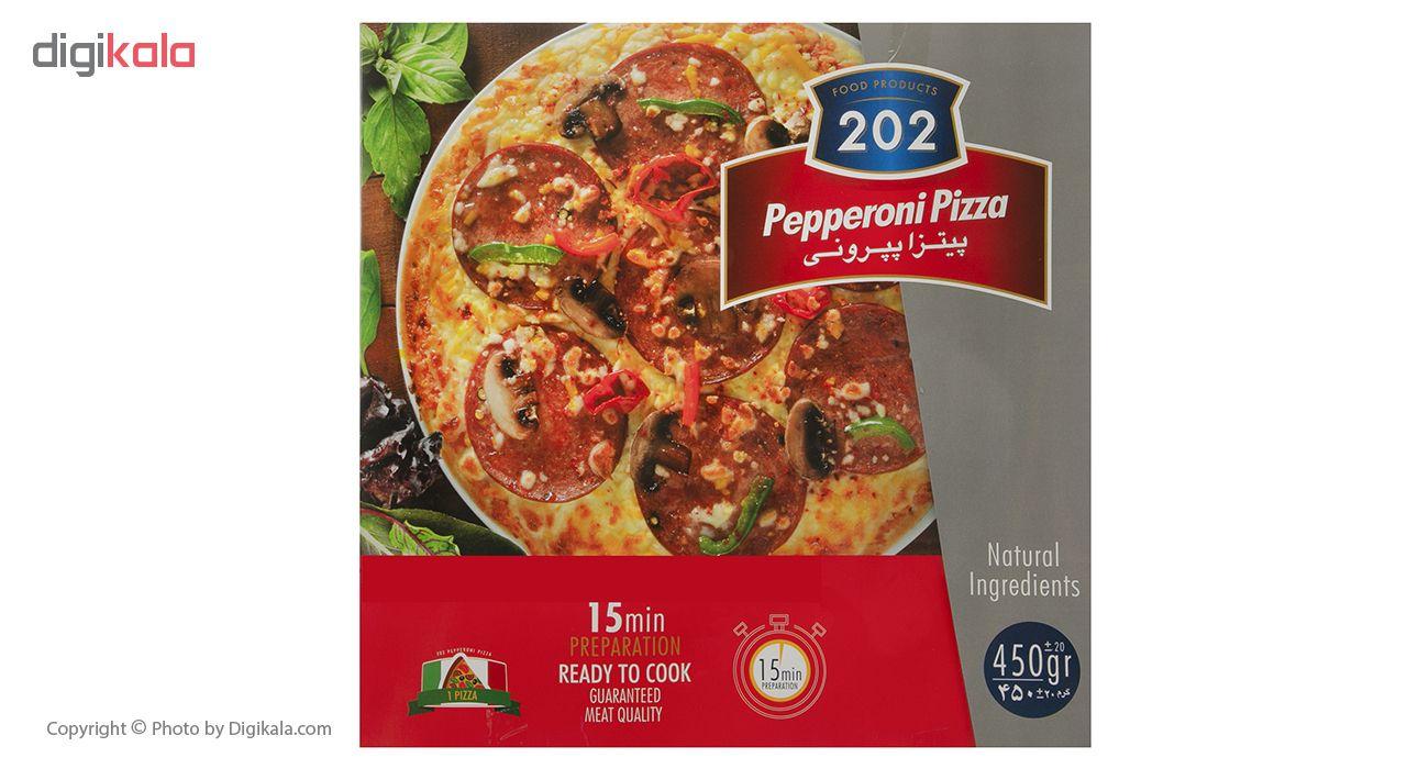 پیتزا پپرونی 202 وزن 450 گرم