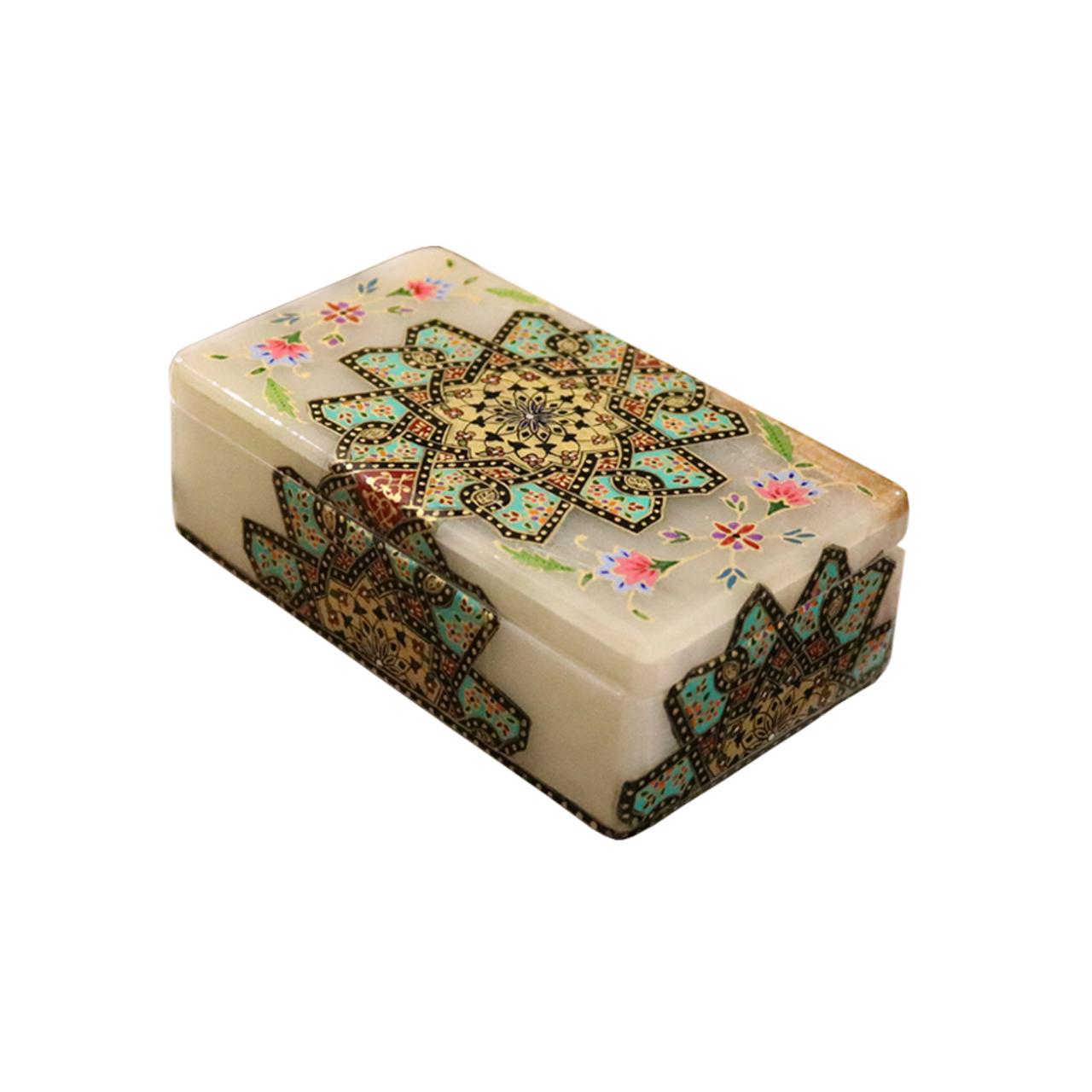 جعبه سنگ مرمر طرح تذهیب کد 127