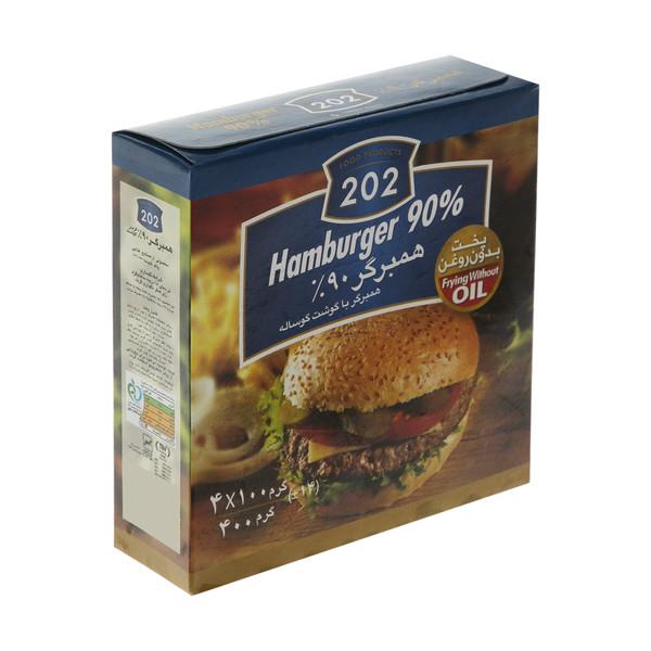 همبرگر 90 درصد گوشت قرمز 202 وزن 400 گرم