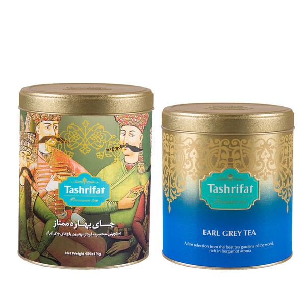 چای بهاره تشریفات مقدار 450 گرم به همراه چای ارل گری