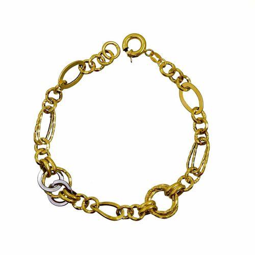 دستبند طلا 18 عیار زنانه کانیار گالری کد DC41