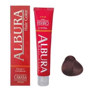 رنگ مو آلبورا مدل carasa شماره M3-4.2 حجم 100 میلی لیتر رنگ قهوه ای زیتونی متوسط
