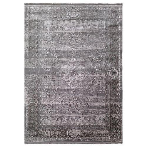 فرش ماشینی زمرد مشهد طرح پتینه کد TA100 زمینه طوسی