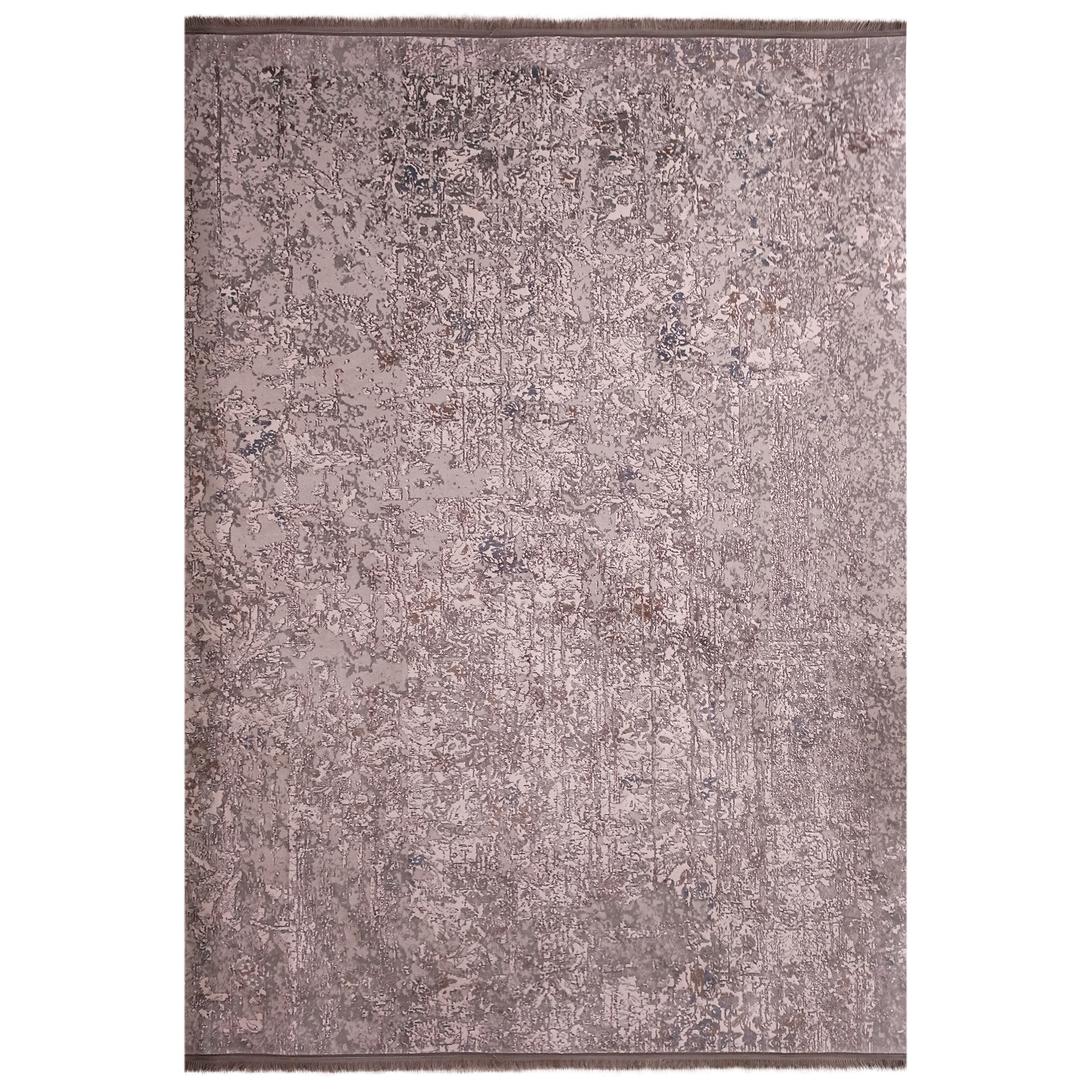 فرش ماشینی زمرد مشهد طرح پتینه کد TA118 زمینه طوسی