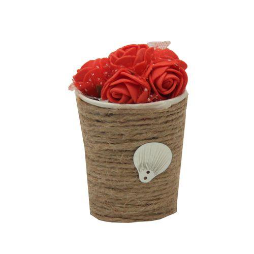 گلدان به همراه گل مصنوعی کد ۵۵۵۵