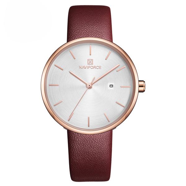 ساعت مچی عقربه ای زنانه نیوی فورس کد NF5002RE-WH              خرید (⭐️⭐️⭐️)