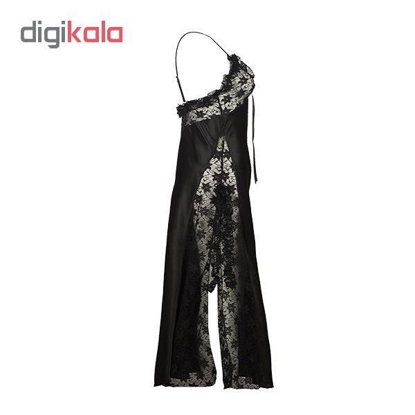 لباس خواب زنانه کد 3704 رنگ مشکی