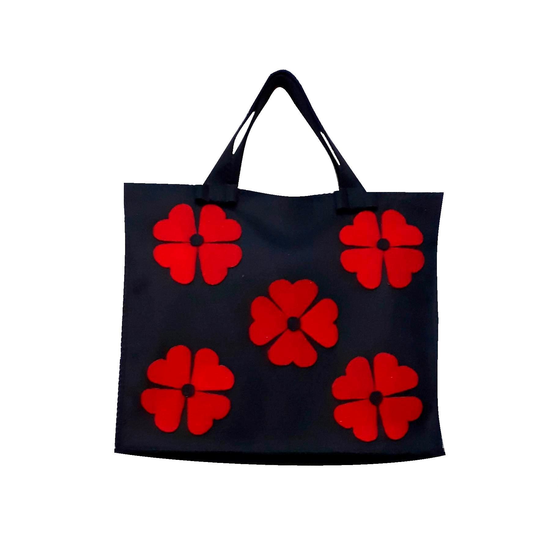 خرید                      کیف دستی نمدی مدل شبدر