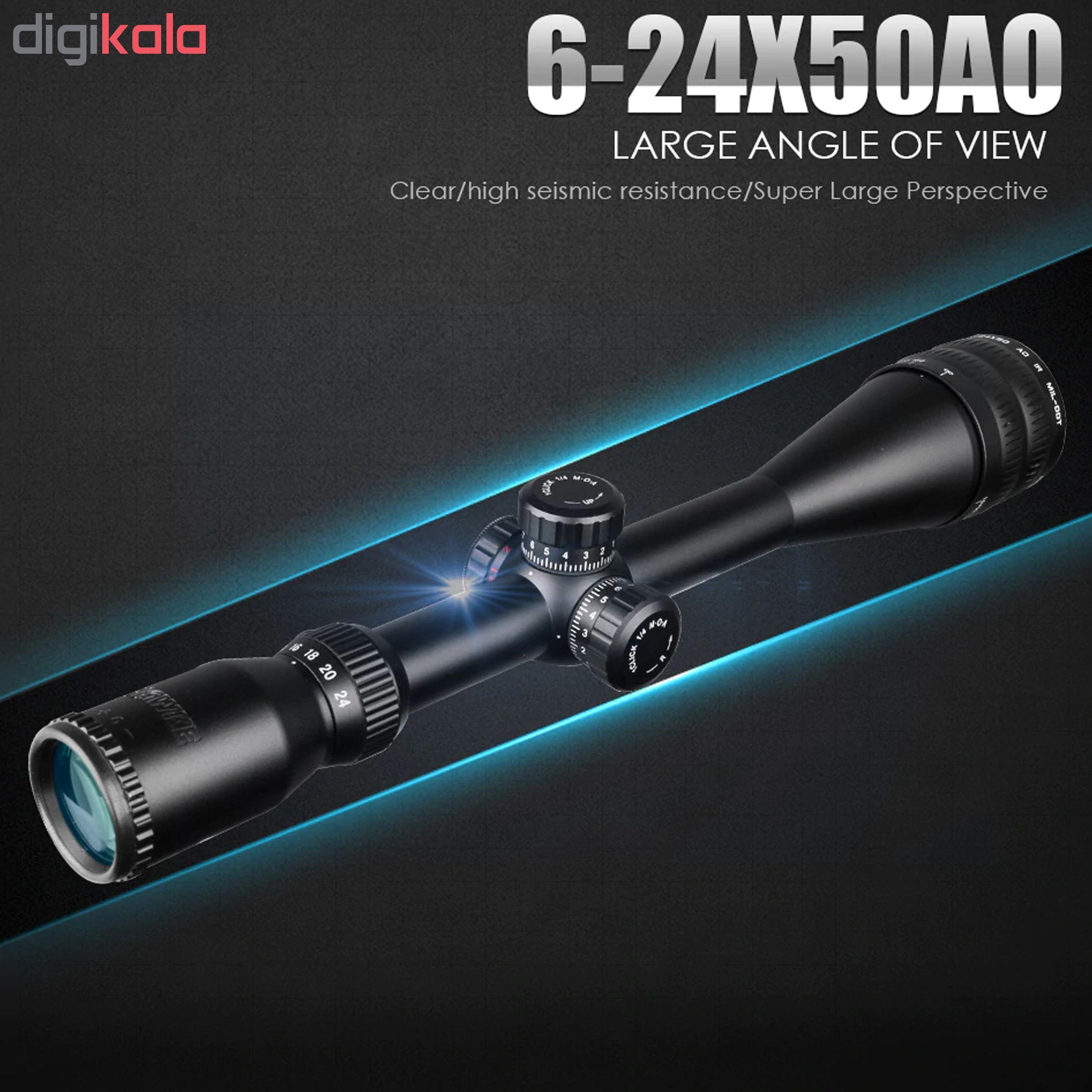 دوربین تفنگ هاوک مدل 50×24-6 IR-OA