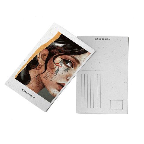 کارت پستال ماسا دیزاین طرح دختر کد POST2