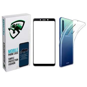 کاور مدل bjnp مناسب برای گوشی موبایل سامسونگ Galaxy A9 2018 به همراه محافظ صفحه نمایش