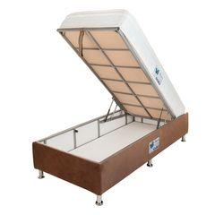 تخت خواب یک نفره آسایش باکس مدل AKA138 سایز 200 × 120 سانتی متر به همراه تشک طبی فنری