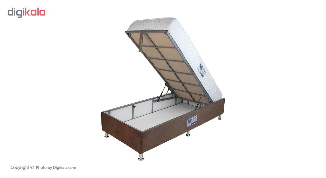 تخت خواب یک نفره آسایش باکس مدل AKA140 سایز 200 × 120 سانتی متر به همراه تشک طبی main 1 1