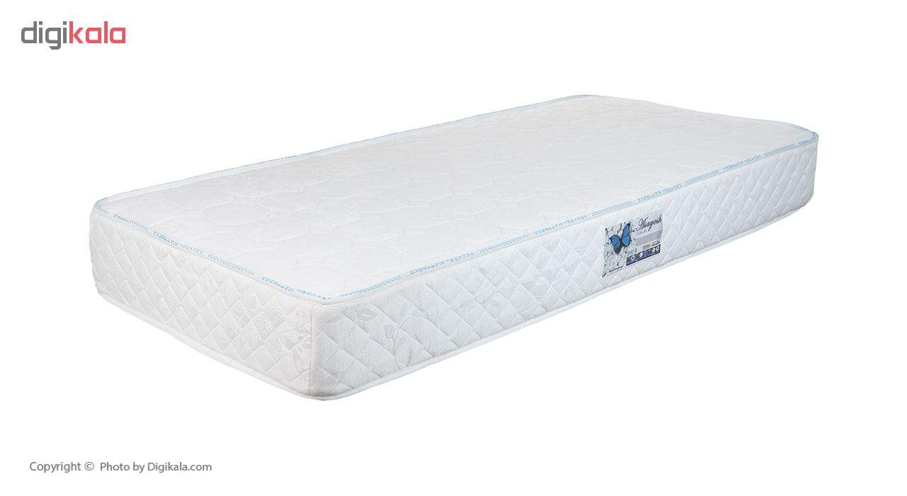تخت خواب یک نفره آسایش باکس مدل AKA140 سایز 200 × 120 سانتی متر به همراه تشک طبی main 1 2