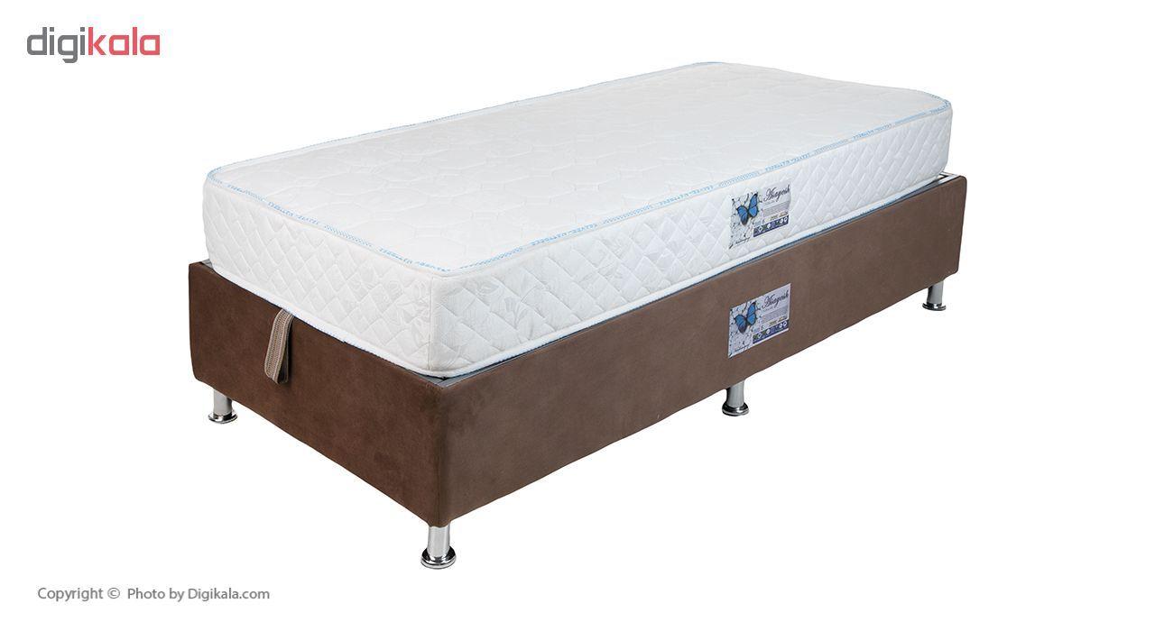 تخت خواب یک نفره آسایش باکس مدل AKA140 سایز 200 × 120 سانتی متر به همراه تشک طبی main 1 3
