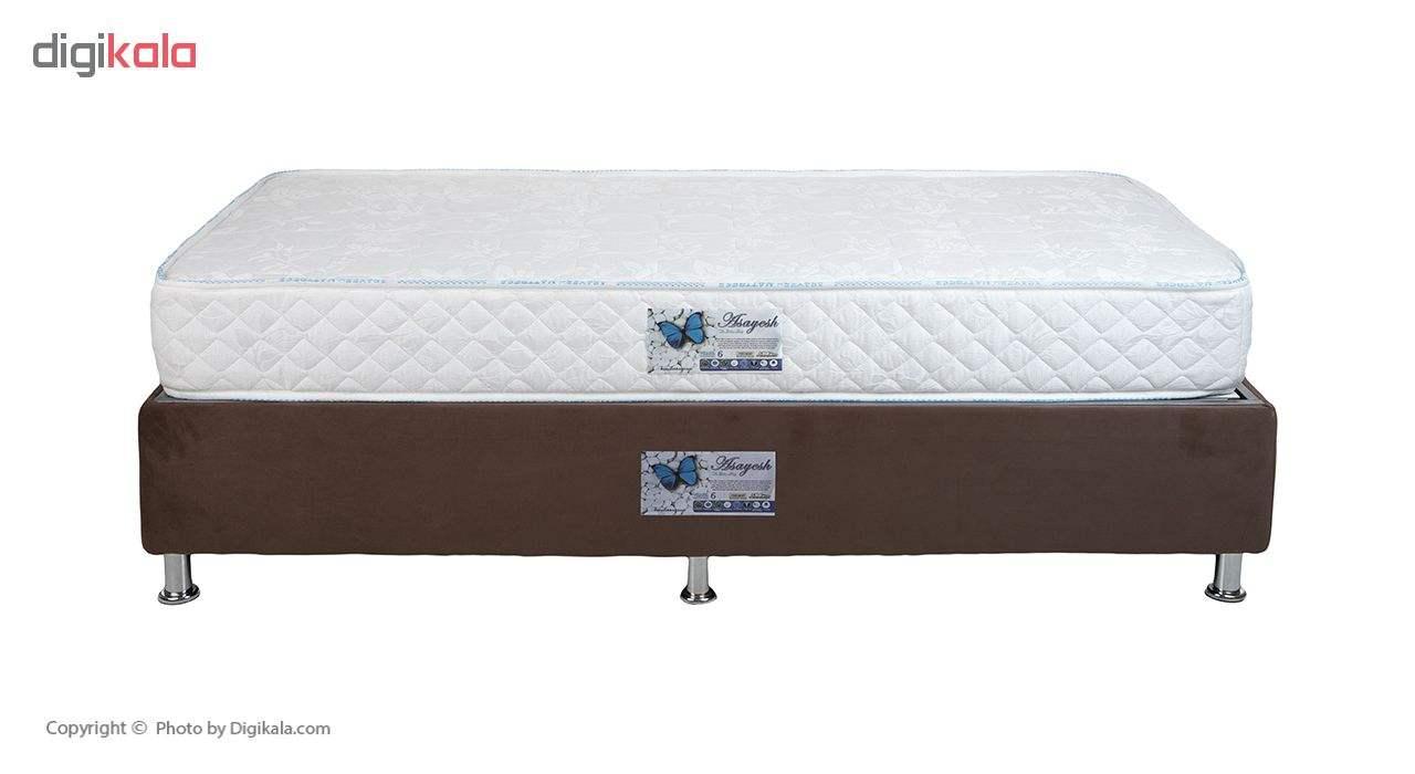 تخت خواب یک نفره آسایش باکس مدل AKA140 سایز 200 × 120 سانتی متر به همراه تشک طبی main 1 4