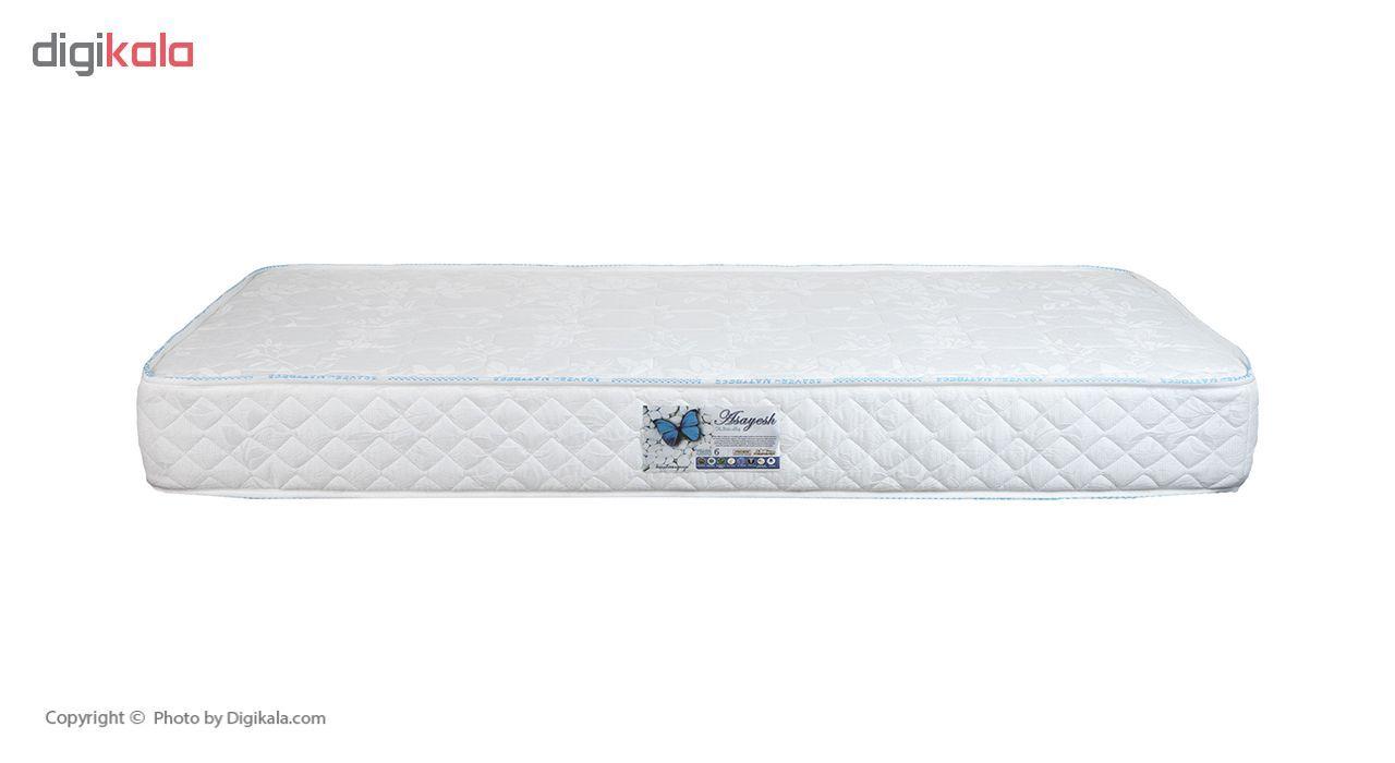 تخت خواب یک نفره آسایش باکس مدل AKA140 سایز 200 × 120 سانتی متر به همراه تشک طبی main 1 5
