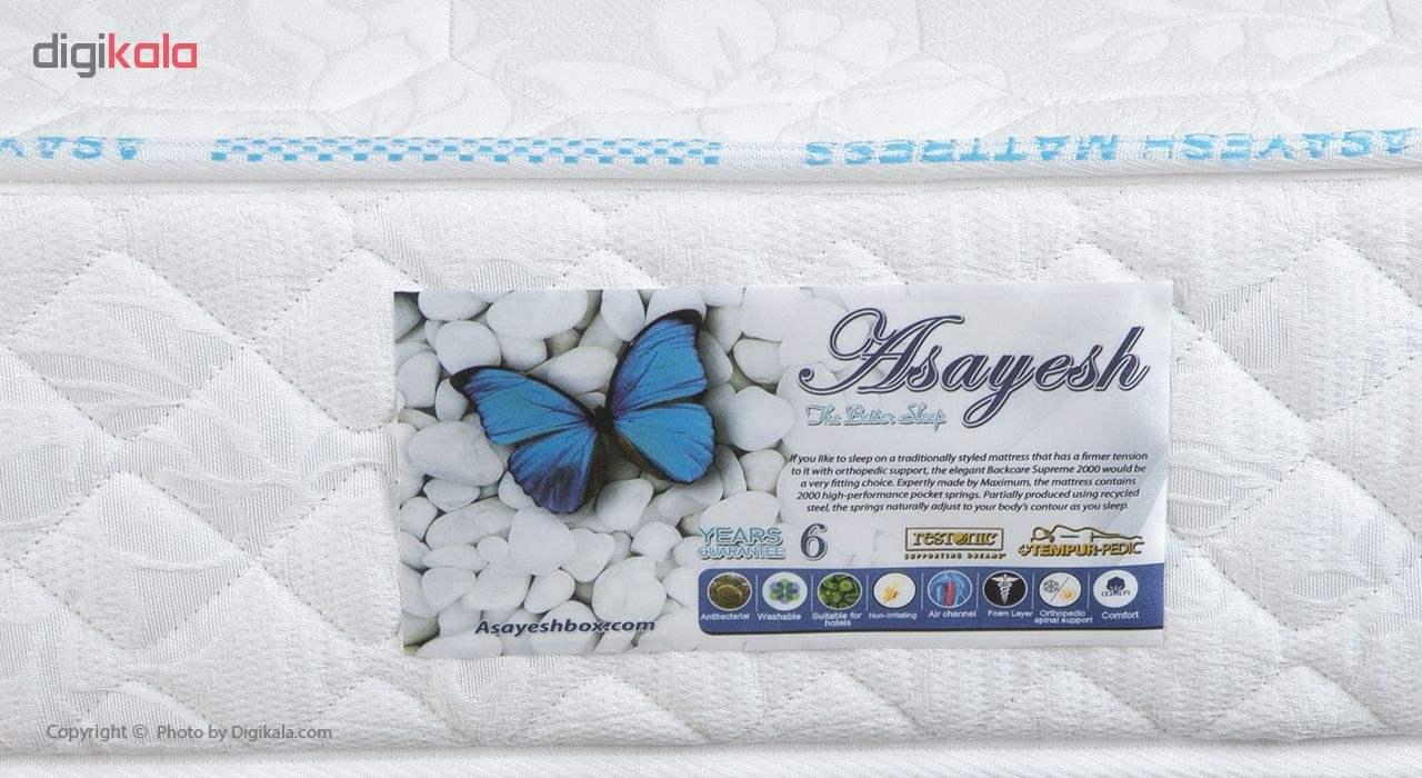 تخت خواب یک نفره آسایش باکس مدل AKA140 سایز 200 × 120 سانتی متر به همراه تشک طبی main 1 6