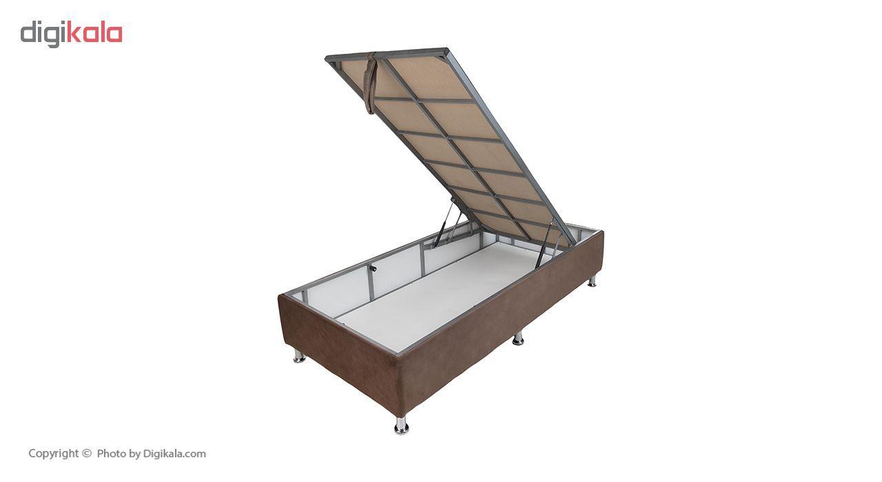 تخت خواب یک نفره آسایش باکس مدل AKA140 سایز 200 × 120 سانتی متر به همراه تشک طبی main 1 8