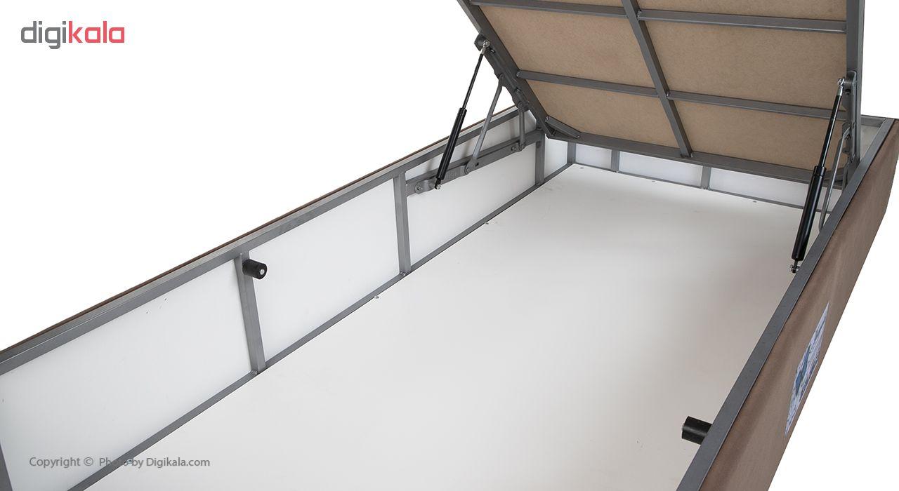 تخت خواب یک نفره آسایش باکس مدل AKA140 سایز 200 × 120 سانتی متر به همراه تشک طبی main 1 10