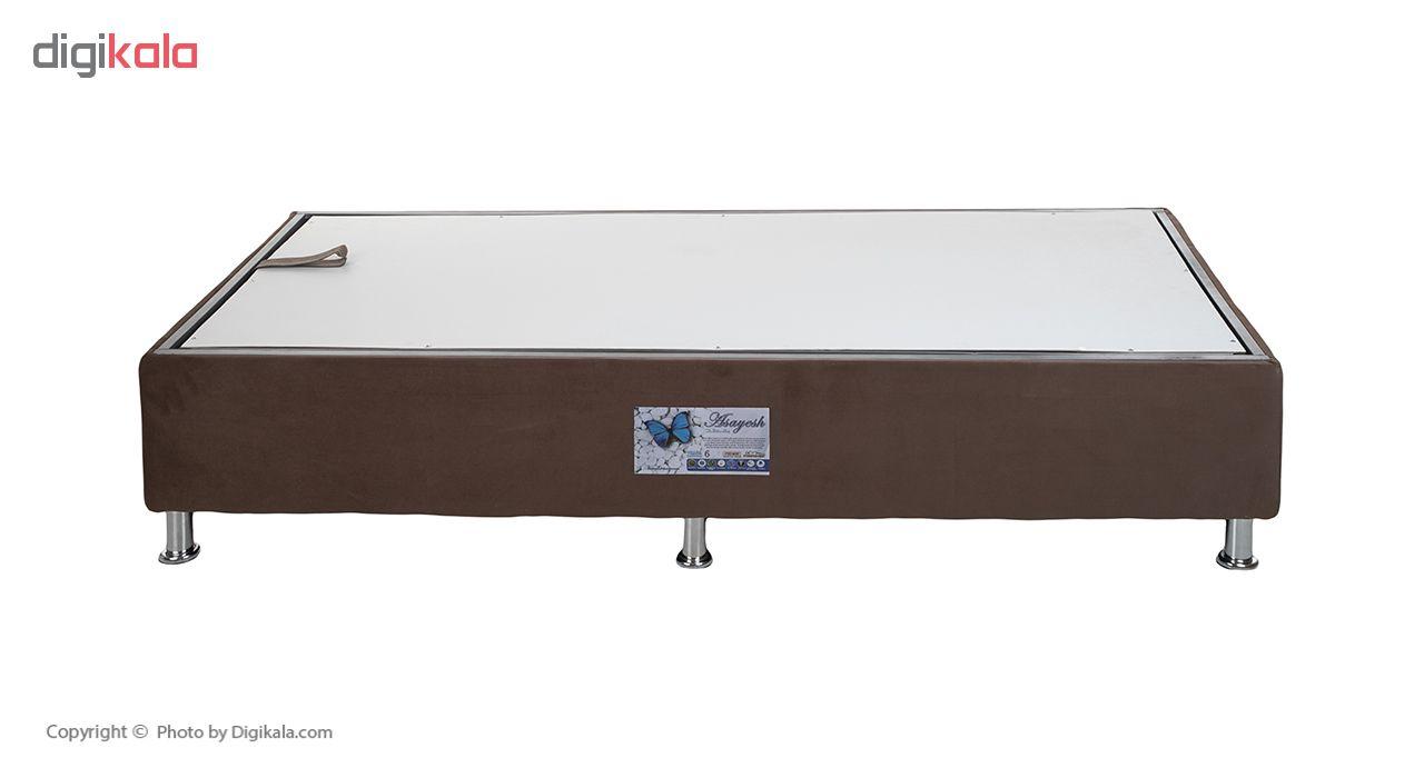 تخت خواب یک نفره آسایش باکس مدل AKA140 سایز 200 × 120 سانتی متر به همراه تشک طبی main 1 12