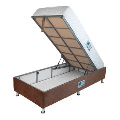 تخت خواب یک نفره آسایش باکس مدل AKA141 سایز 200 × 120 سانتی متر به همراه تشک طبی